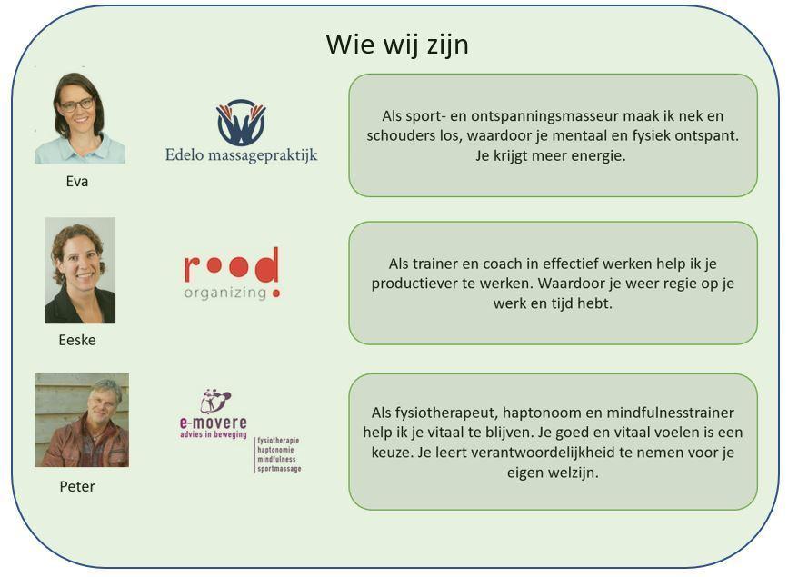 Logo en korte uitleg bedrijven Edelo, Rood en E-movere