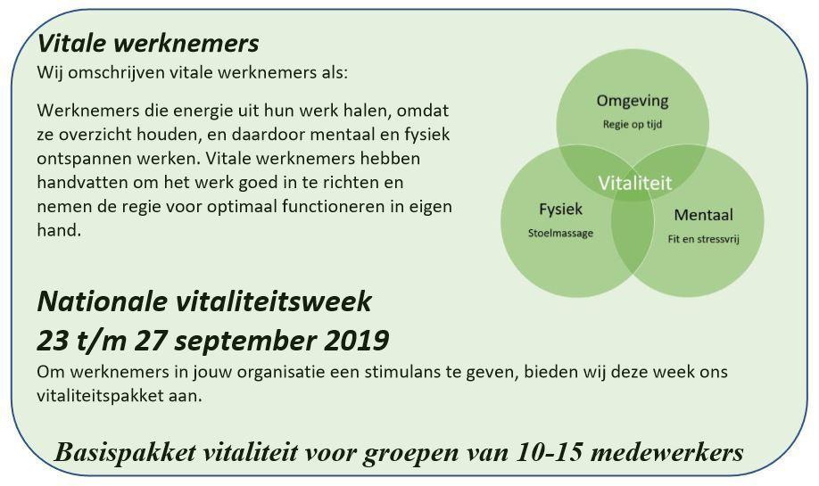 vitaliteitsweek in schema
